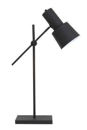 Tafellamp 15x15x68-82 cm PRESTON zwart