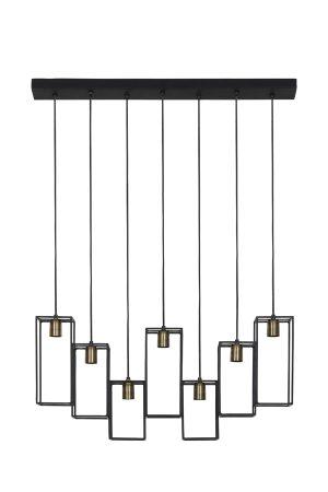 Hanglamp 7L 84x15x130 cm MARLEY mat zwart