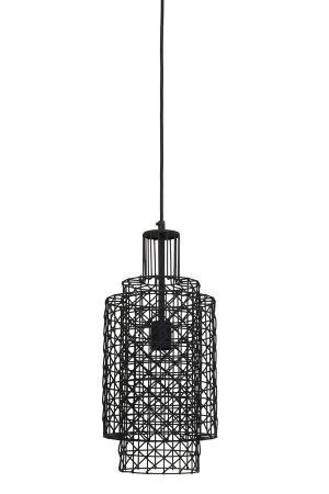 Hanglamp Ø20x45 cm DEBBY zwart