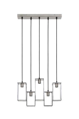 Hanglamp 5L 60x15x57 cm MARLEY nikkel