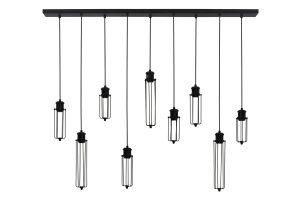 Hanglamp 9L 140x14x120 cm DAGMAR zwart