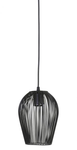 Hanglamp Ø16x20 cm ABBY mat zwart