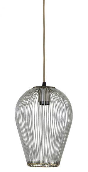 Hanglamp Ø19x26 cm ABBY antiek zilver