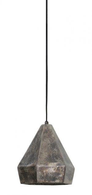 Hanglamp Ø15x20 cm THIRSA zwart parelmoer