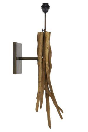 Wandlamp 25x18x70 cm BLUMA naturel bruin