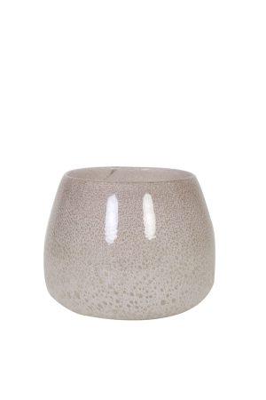 Vaas Ø20x16 cm MUMBULLA glas wit
