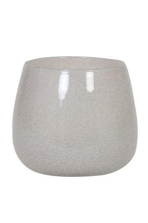 Vaas Ø26x22 cm MUMBULLA glas wit