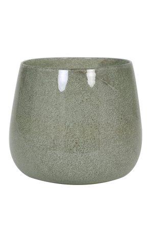 Vaas Ø26x22 cm MUMBULLA glas groen