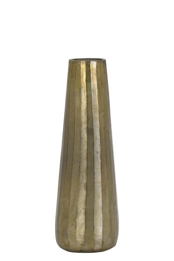 Vaas Ø13x39 cm DURANGO ruw antiek brons