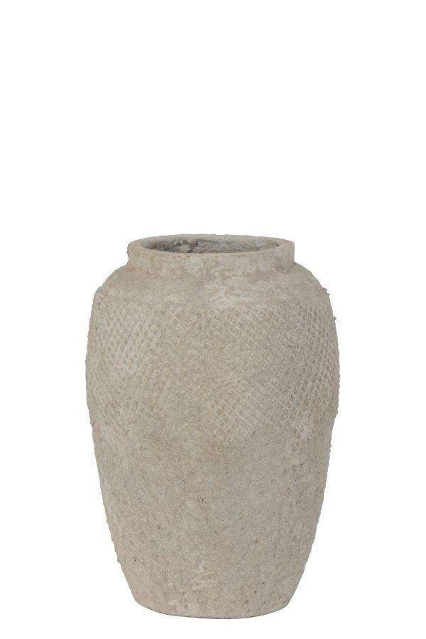 Pot deco Ø23x33 cm VERTAS keramiek cement