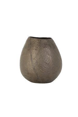 Vaas deco Ø23x25 cm JAKE keramiek brons
