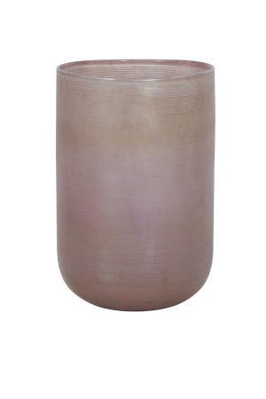 Vaas Ø20x30 cm TALLEGNA glas roze