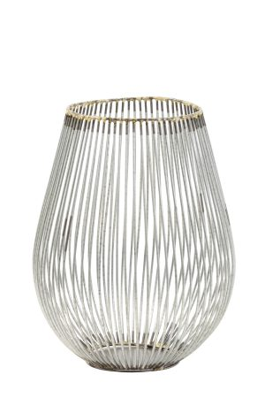 Theelicht Ø16x20 cm VENADE antiek zilver