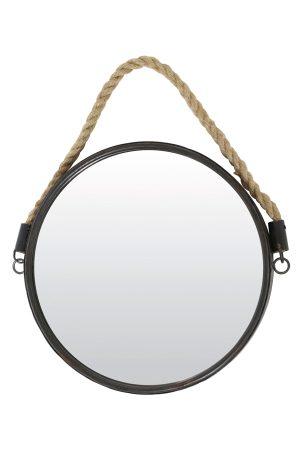 Spiegel Ø38 cm FORCE brons met touw
