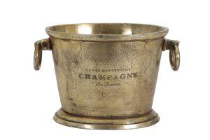 Champagnekoeler 39x25x25 cm CRISTAL antiek brons 6304818 quality2life.nl