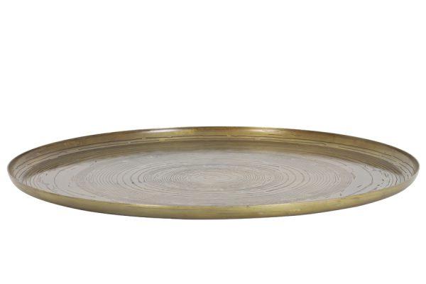 Schaal Ø60x2 cm MATO thrunk antiek brons