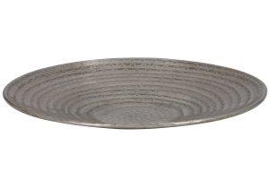 Schaal Ø47x5 cm LARRE antiek zilver