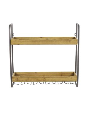 Wandrek 2 laags 73x20x69 cm SUCRE hout