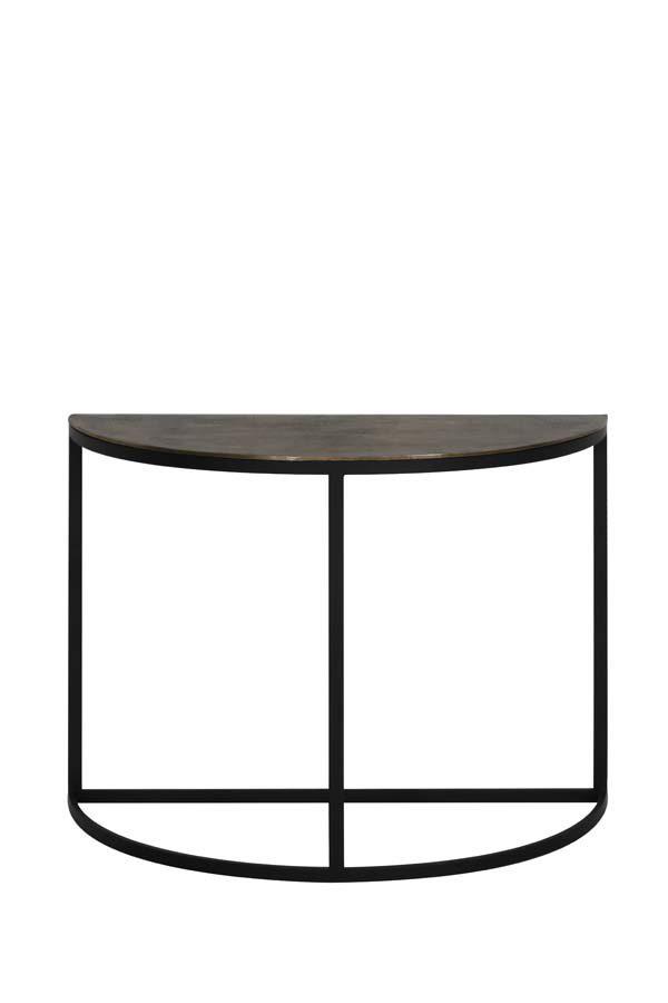 Side table 100x42x76 cm PETO ruw antiek brons-zwart