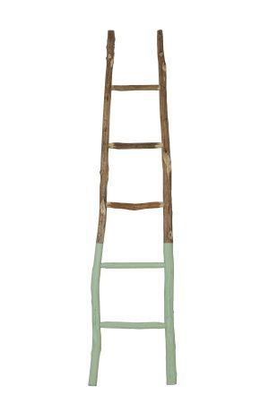Ladder deco 42x4x180 cm STEN groen