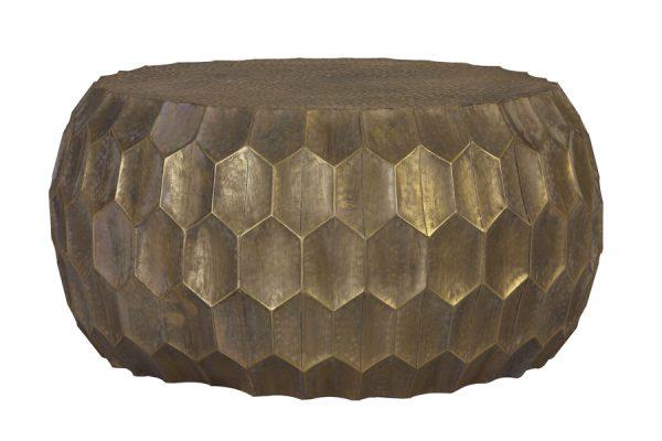 Bijzettafel Ø85x42 cm KALAN antiek goud