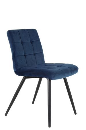 Eetkamerstoel 49x57x84 cm OLIVE velvet blue