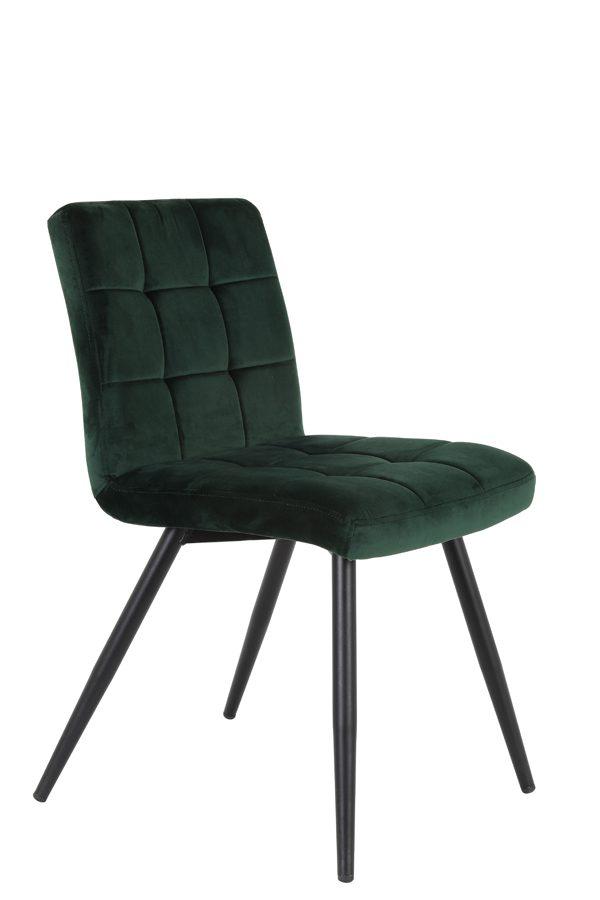 Eetkamerstoel 49x57x84 cm OLIVE velvet dark green