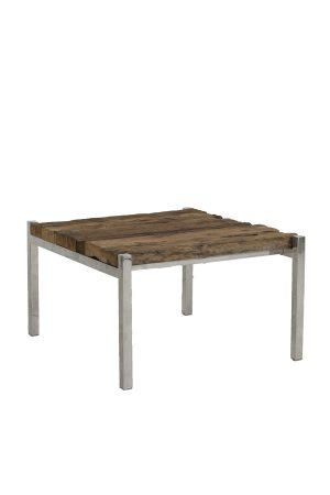 Salontafel 65x71x40 cm SOTOS hout-nikkel