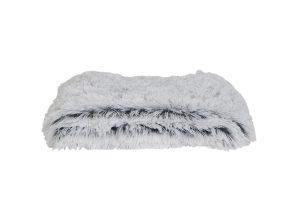 Deken 160x140 cm COSY wit-licht grijs
