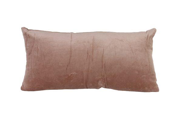 Kussen 60x30 cm KHIOS velvet zalm roze