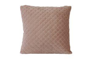 Kussen 50x50 cm SHELL velvet zalm roze
