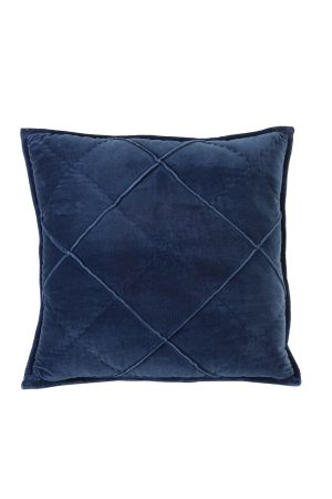 Kussen 50x50 cm DIAMOND velvet donker blauw