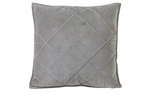Kussen 50x50 cm DIAMOND velvet cement grijs