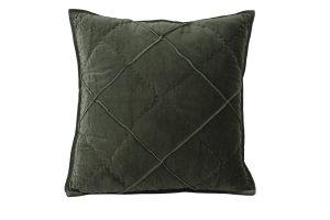 Kussen 50x50 cm DIAMOND velvet leger groen