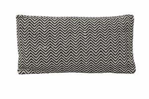 Kussen 60x30 cm TANO zwart-grijs