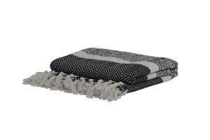 Plaid 150x125 cm SENE black