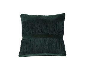 Kussen 45x45 cm FRINGES groen