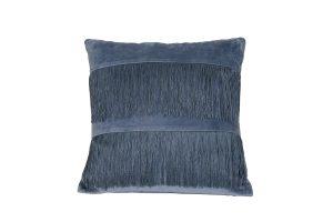 Kussen 45x45 cm FRINGES blauw