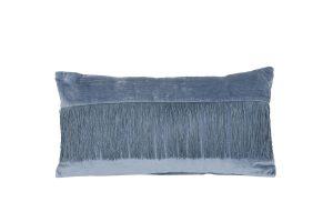 Kussen 60x30 cm FRINGES blauw