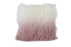 Kussen 40x40 cm ELVA wit+licht roze