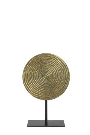 Ornament op voet Ø25x38 cm RAWAS ruw a brons cirkel-m zwart