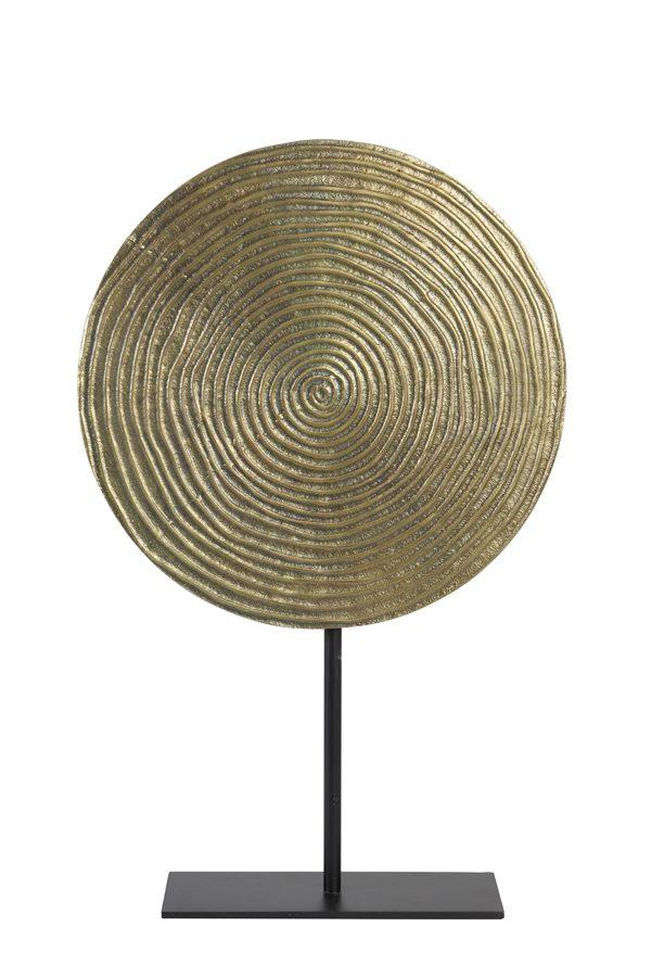 Ornament op voet Ø35x56 cm RAWAS ruw a brons cirkel-m zwart