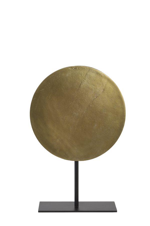 Ornament op voet Ø30x45 cm GASIM ruw antiek brons-mat zwart