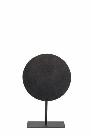 Ornament op voet Ø25x38 cm DASIM mat lood dots