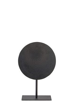 Ornament op voet Ø25x38 cm SASIM mat lood spiraal