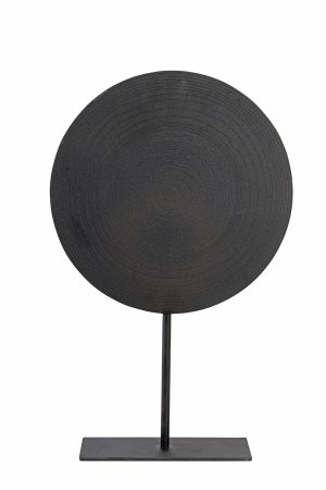 Ornament op voet Ø35x56 cm LASIM mat lood spiraal