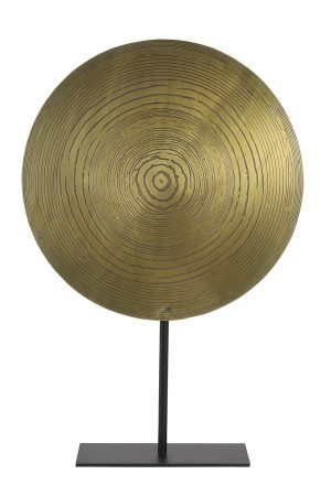 Ornament op voet Ø40x60 cm LASIM ant brons spiraal-mat zwart