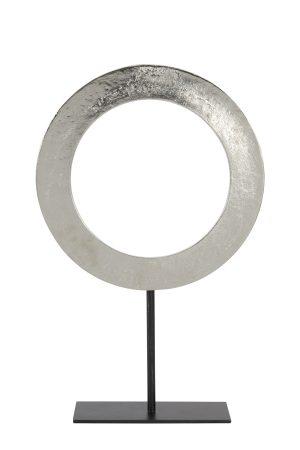 Ornament op voet Ø35x56 cm WAIWO ruw nikkel-mat zwart