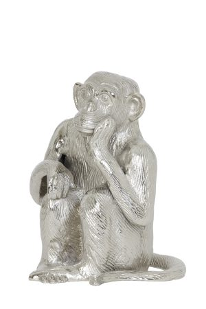 Ornament 21x18x26 cm MONKEY nikkel