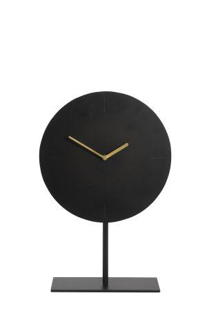 Klok op voet Ø30x45 cm WAIWO mat zwart-goud